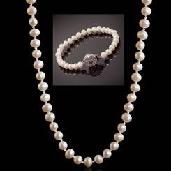 Classic Pearl Collection (Necklace and Bracelet)