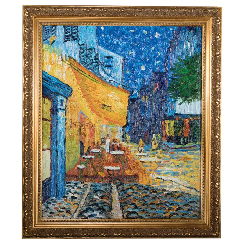 Cafe Terrace At Night By Vincent Van Gogh Plus Free Silk