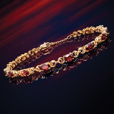 Forbidden Fruit Red Garnet Bracelet