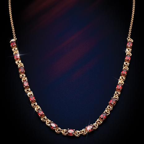 Forbidden Fruit Red Garnet Necklace