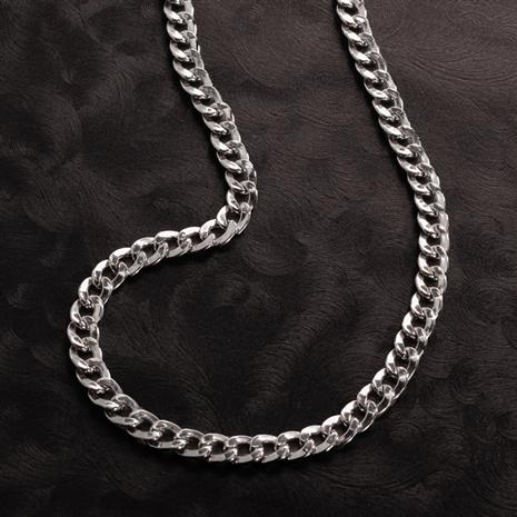 Rhodium-Finished Sterling Silver Grumetta Necklace