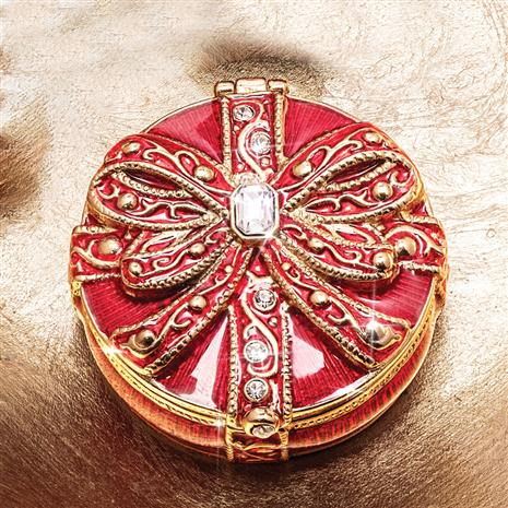Petite Cloisonne Box (Red)