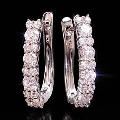 Moissanite Hoop Earrings (3/5 ctw)