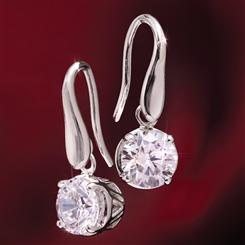 Rhodium-Finished Sterling Silver Sparkle Fusion Earrings