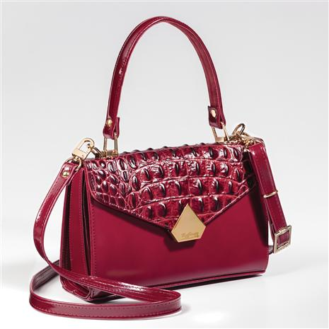 Esotica Italian Leather Small Handbag
