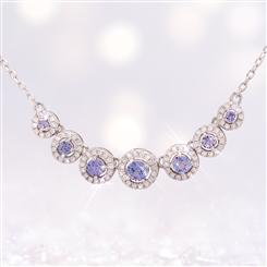 Tanzanite Heavenly Halo Necklace