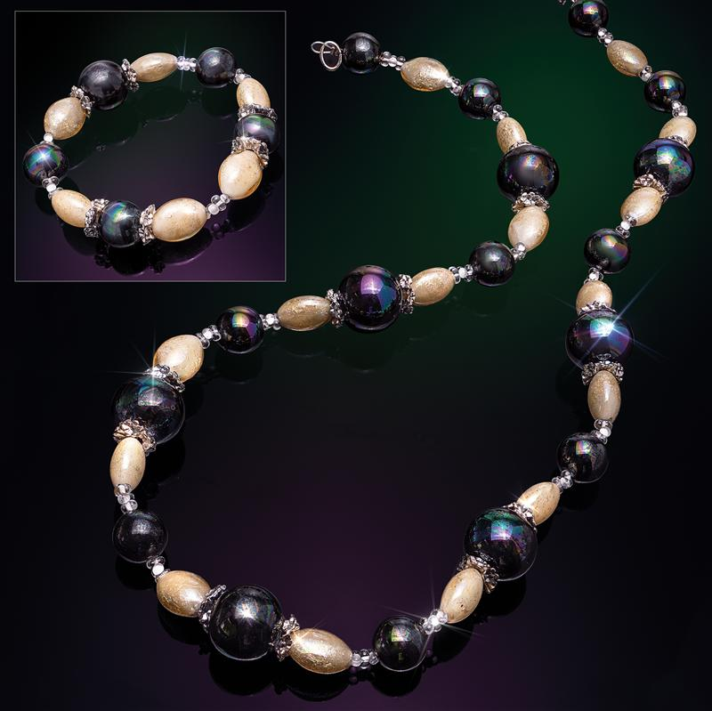 Murano Meridian Necklace & Bracelet