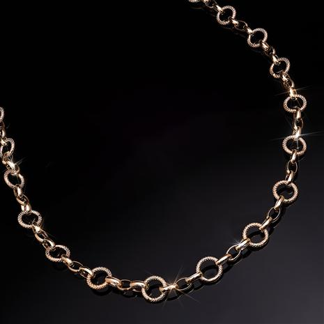 Italian 14K Gold Dual Link Necklace