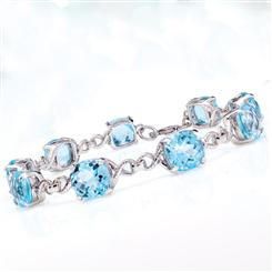 Big Blue Topaz Bracelet