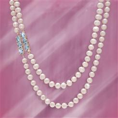 Pearl and Blue Topaz Indulgence Necklace