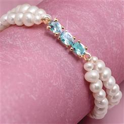 Pearl and Blue Topaz Indulgence Bracelet