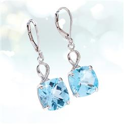 Big Blue Topaz Earrings