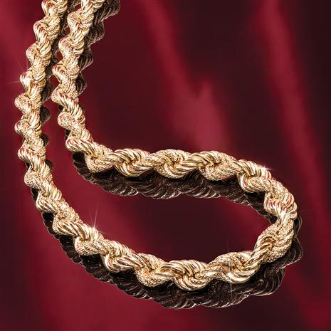 "14K Italian Gold Rope 18"" Necklace"