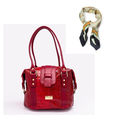 Secchiello Bag (red) plus FREE Scarf