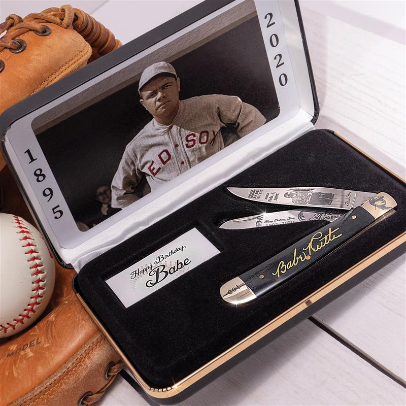 Babe Ruth Commemorative Folding Knife in Box