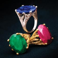 Velvet Gemstone Ring Collection (Set of 3)