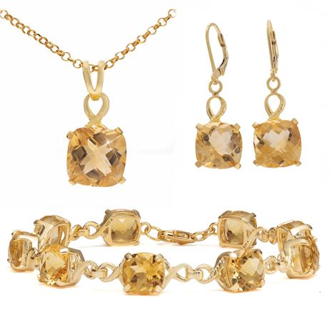 Gold-Finished Sterling Silver Citrine Collection