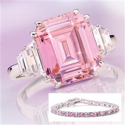 20 Million Pink Ring and Bracelet Set