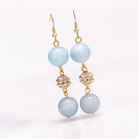 Aquamarine Evening Earrings
