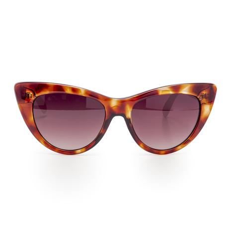 Cadore Italian Cat's Eye Sunglasses (Tortoise)