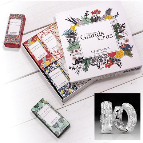 Grands Cru Discovery Fragrance Collection Plus FREE Huggie Hoops Earrings