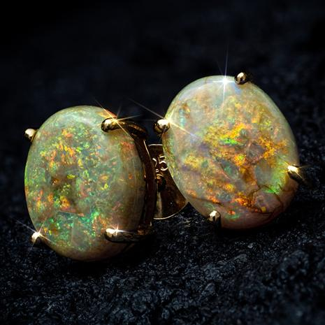 Arizona Desert Cultured Opal Earrings