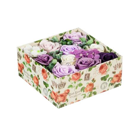 Blooming Rose Soap Gift Box (Violet)