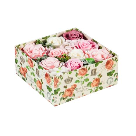 Blooming Rose Soap Gift Box (Pink)