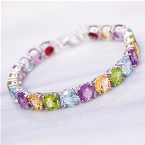 Multi-Gemstone Tennis Bracelet