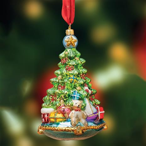 Christmas Tree on Pillow Ornament
