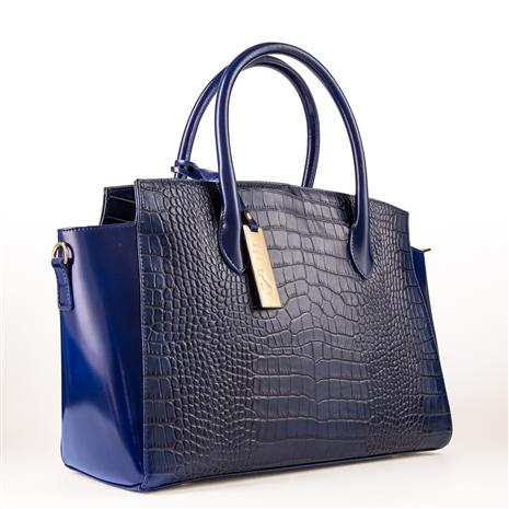 Italian Leather Handbag (navy)