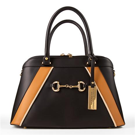 Italian Leather Handbag (black)