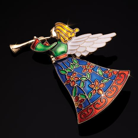 Signs of the Season Angel Brooch