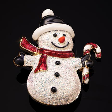 Signs of the Season Snowman Brooch