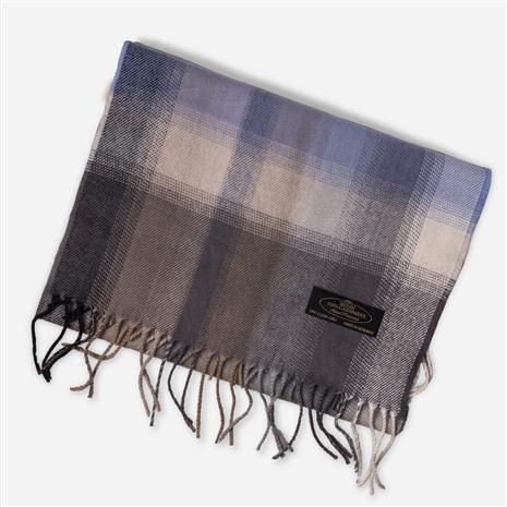 Cashmere Scarf (Blue Plaid)