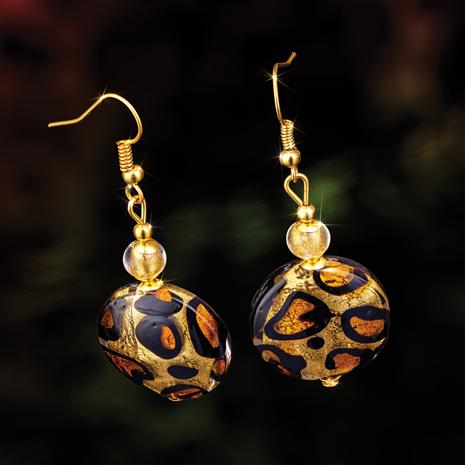 Murano Leopardo Earrings