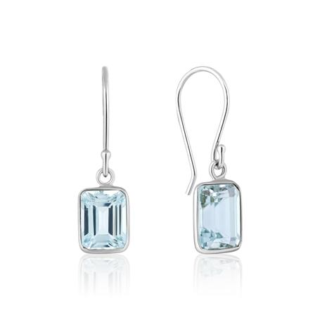 Sky Blue Topaz Drop Earrings