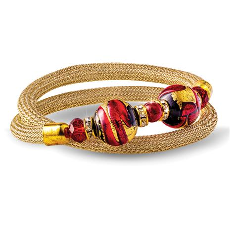 Wrap Around Murano Bracelet (Red)