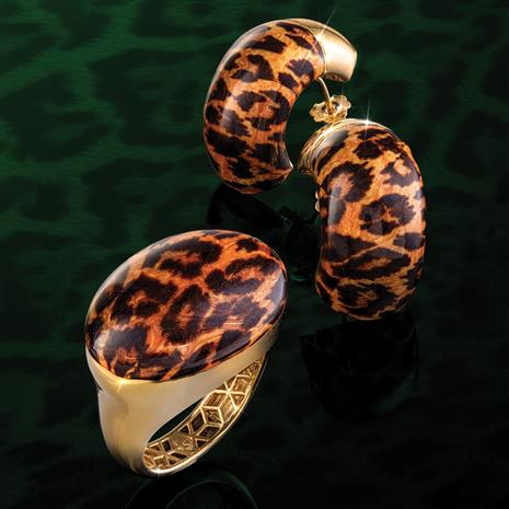 Leopardo Italia Ring & Earrings