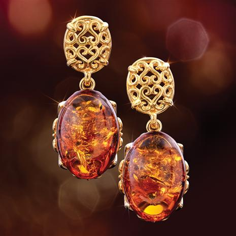 Honey Amber Earrings