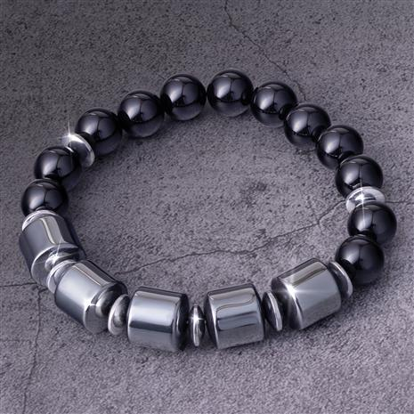 Men's Hematite & Onyx Power Bracelet