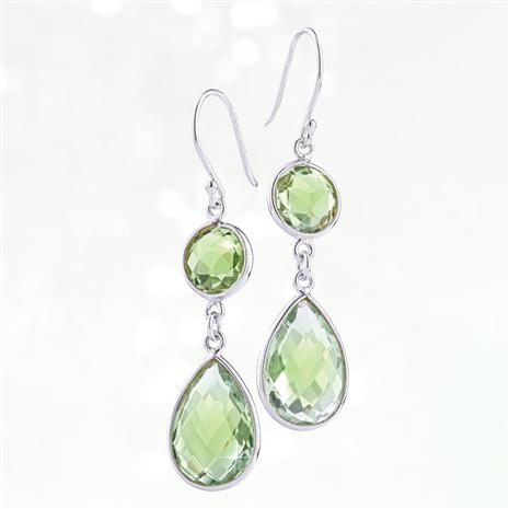 Drop Everything Earrings (Green Amethyst)