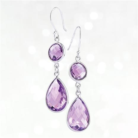 Drop Everything Earrings (Purple Amethyst)
