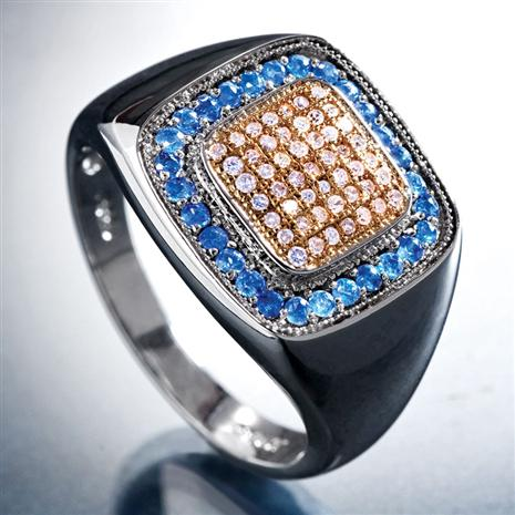 Buchanan Men's Sapphire & Diamond Ring