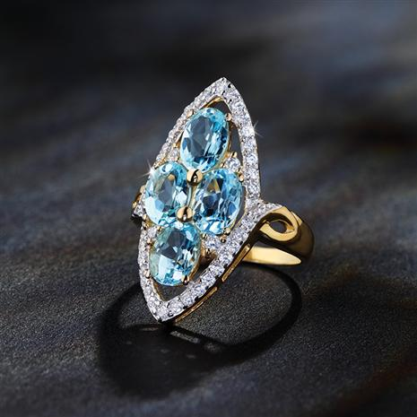 Blue Wonder Topaz Ring