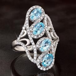 Blue Topaz Indulgence Ring