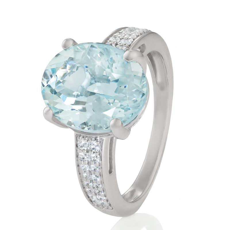 Cool Waters Aquamarine Ring