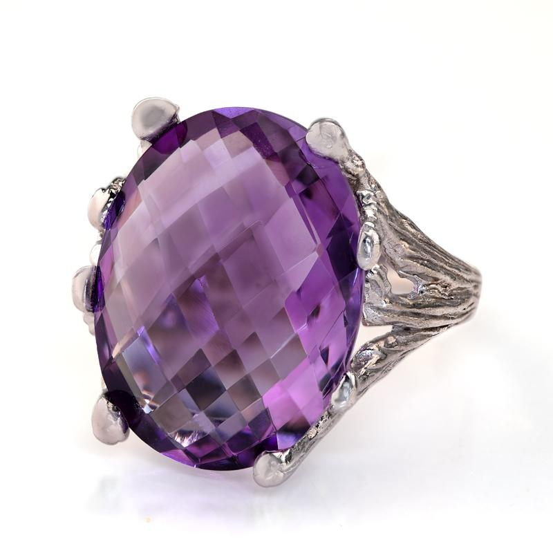 Gemstone Decadence Purple Amethyst Ring
