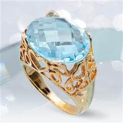 Gemstone Decadence Blue Topaz Ring