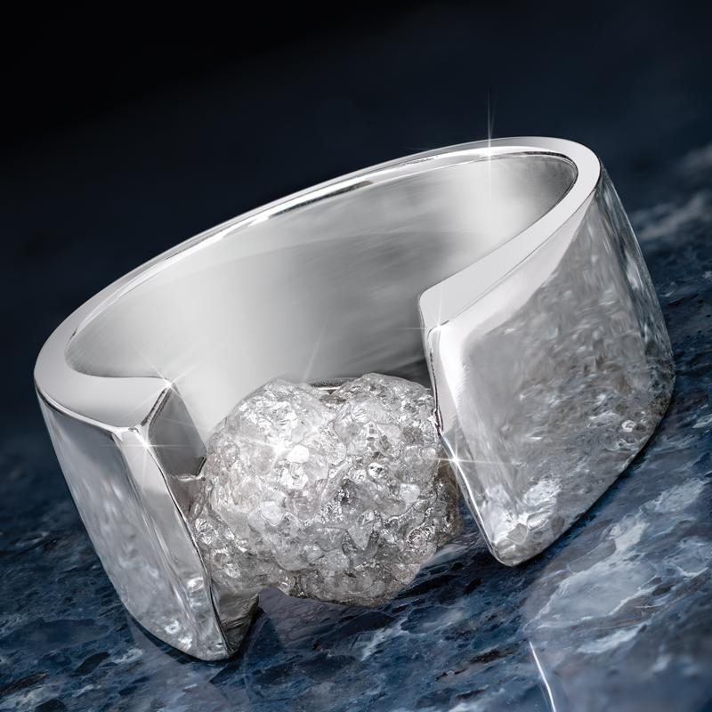 Rugged Diamond Men's Ring